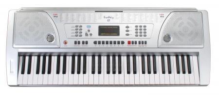 FunKey 61 Keyboard inkl. Netzteil und Notenhalter  - Retoure (Zustand: akzeptabel)