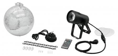Eurolite LED PST-15W MK2 COB RGBW Pinspot Spiegelkugelset