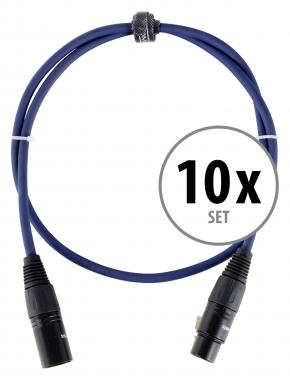 Pronomic Stage DMX3-1  cable DMX 1m set 10 x