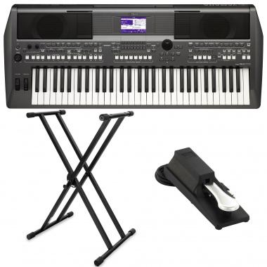 Yamaha PSR-S670 Keyboard SET inkl. Keyboardständer+ Pedal