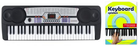 McGrey BK-5410 Keyboard mit 54 Tasten, Keyboardschule, Mikrofon und Notenhalter