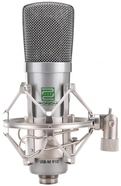 Pronomic USB-M 910 Podcast Microfono a condensatore Set include cavo, ragno e borsa