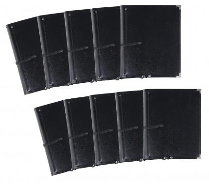 Classic Cantabile B16BK Notenmappe Deluxe 10er Pack