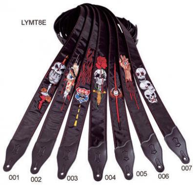 Levys Gitarrengurt LY-MT8E002 Gothic