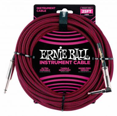 Ernie Ball 6062 Instrumentenkabel 7,62 m Schwarz/Rot