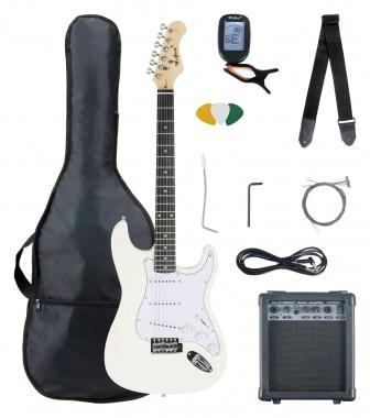 McGrey Rockit Electric Guitar ST Complete Set White