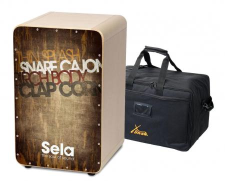 Sela SE 075 CaSela Cajon Vintage Brown SET incl. Cajontasche