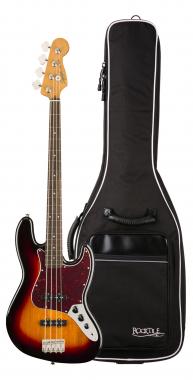 Fender Squier Classic Vibe '60s Jazz Bass LRL 3CS Gigbag Set