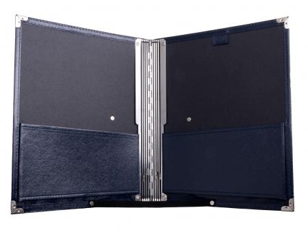 Classic Cantabile B02BL cartera para notas estandar azul