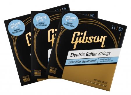 Gibson SEG-BWR11 Brite Wire Reinforced 011-050 3er Set