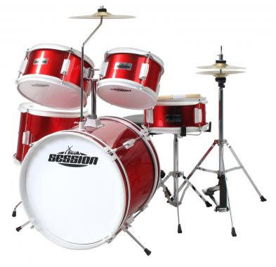 XDrum Junior Kinder Schlagzeug Rot inkl. Schule + DVD  - Retoure (Zustand: sehr gut)