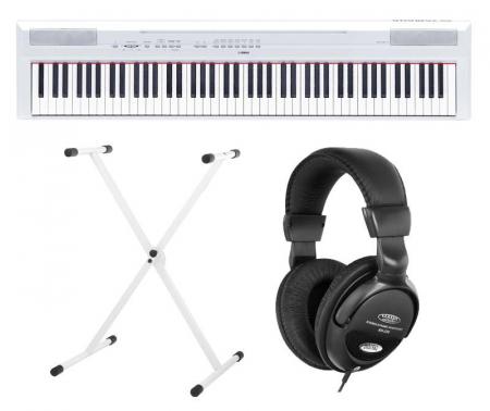Yamaha P-115WH Stage Piano White SET inkl. Ständer und Kopfhörer