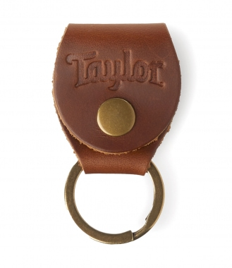 Taylor Pick Holder Key Ring Med Brown