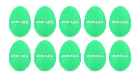 10x Kirstein ES-10G Egg Shaker Green Medium-Heavy Set