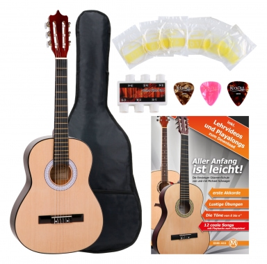 Classic Cantabile Classical Guitar Starter Set 3/4 incl. 4-piece accessory kit