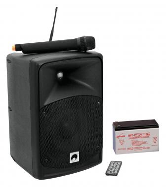 Omnitronic WAMS-08BT Wireless Aktivbox im SET mit Akku  - Retoure (Zustand: sehr gut)