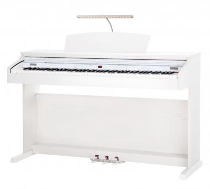 Classic Cantabile DP-50 WM E-Piano weiß matt Kopfhörer Set