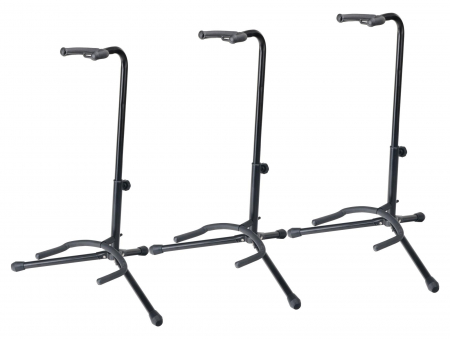 3-Piece SET Rocktile GSN-01 Guitar Stands with Neck Support