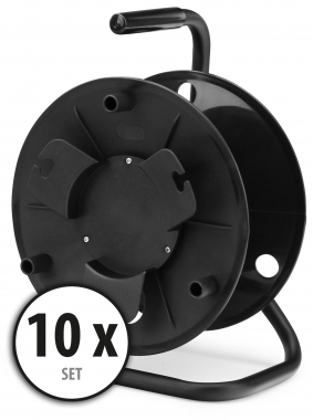 10-Piece Set Pronomic KT-100 cable reel (empty)