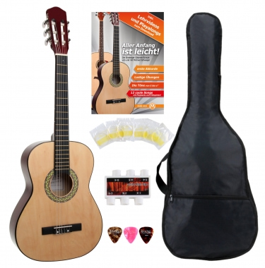 Classic Cantabile Acoustic Series AS-851 3/4 Konzertgitarre Starterset  - Retoure (Zustand: sehr gut)