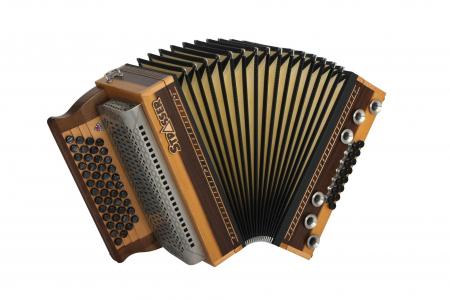 Strasser 4/III Hoamat Harmonika G-C-F-B mit X-Bass, Lauro Preto