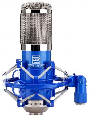 Pronomic CM-100B Micro à Grosse Membrane de Studio incl. suspension & Protection Anti-Vent, bleu