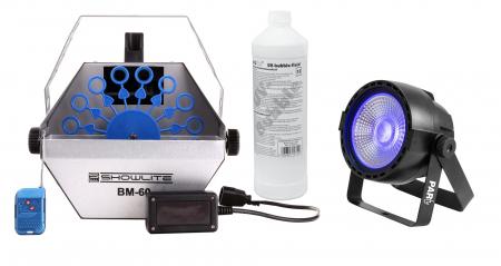 Showlite BM-60 UV-Seifenblasen Set Gelb