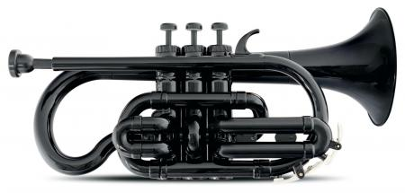 Classic Cantabile MardiBrass Trompeta en material sintético en si bemol negra