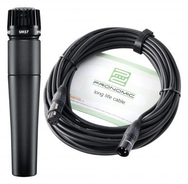 Shure SM 57-LCE Mikrofon Set+ Kabel