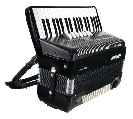 Hohner Bravo III 96 Akkordeon Schwarz mit HDS Voll-MIDI System - Ausstellungsstück