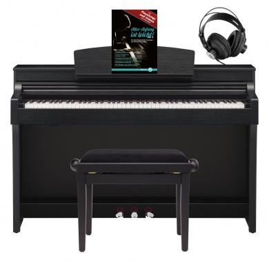 Yamaha CSP-170 B Digitalpiano Schwarz matt SET mit Kopfhörer, Bank & Schule