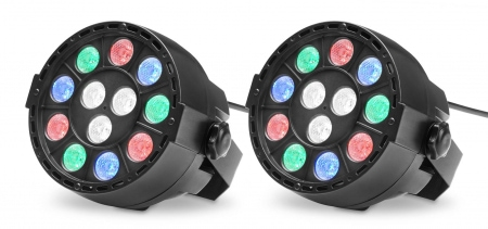 Showlite SPS-121 LED Smart Party Spot 12x1W RGBW 2-Piece Set