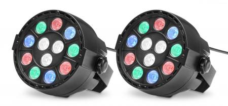Showlite SPS-121 LED Smart Party Spot 12x 1W RGBW 2er Set