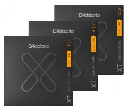 D'Addario XTE1046 XT Regular Light - 3er Pack