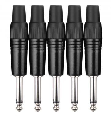 Pronomic JPLUG Black Klinkenstecker - 5er Pack