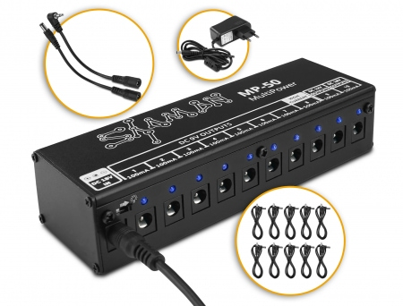 Shaman MP-50 MultiPower Isolated Power Supply for Effect Pedals
