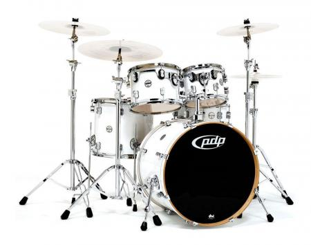 DW PDP Concept Maple 5 Standard Pearlescent White