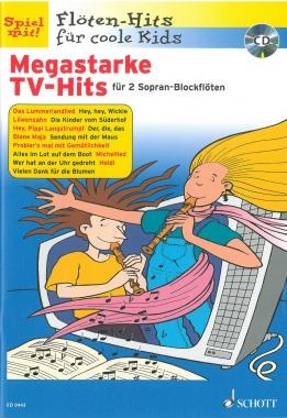 Megastarke TV-Hits für 2 Sopran-Blockflöten