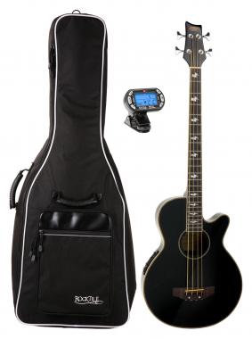 Classic Cantabile Akustik Bass Black Set mit Gigbag und Stimmgerät