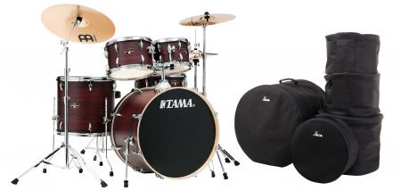 Tama IE52KH6W-BWW Imperialstar Drumkit Burgundy Walnut Wrap Set inkl. Gigbags