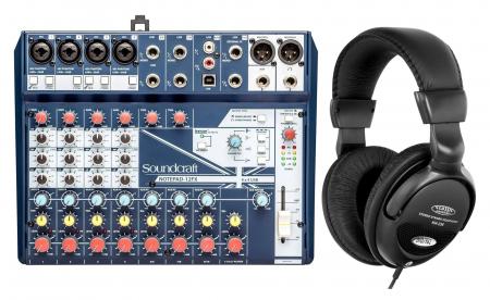 Soundcraft Notepad-12FX Kompaktmischpult Set inkl. Kopfhörer