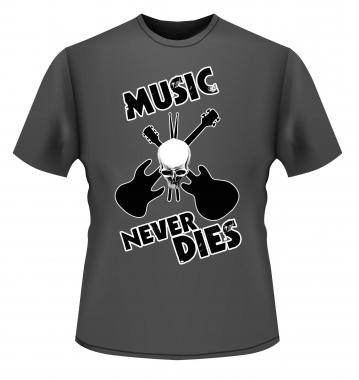 """Kirstein T-Shirt """"Music never dies"""" Größe M"""