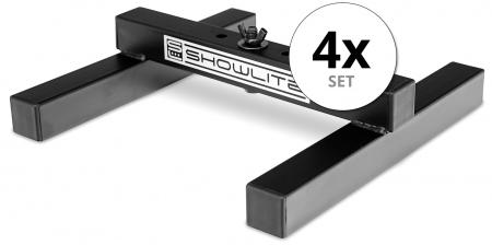 Set of 4 Showlite FLS-10 PAR floor light stand 1-fold