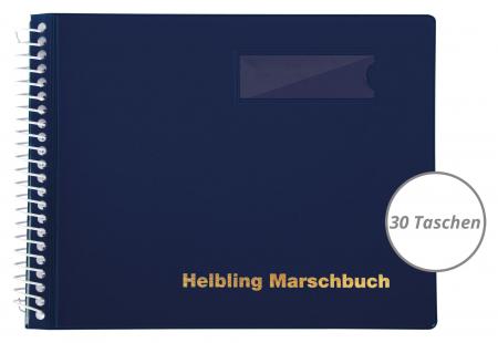 Helbling BMB30 Marschbuch blau 30 Taschen