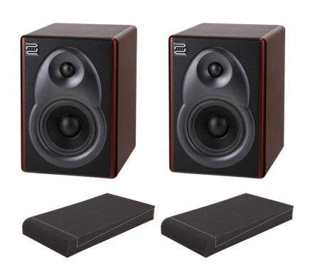 "Pronomic M6B Aktive Studio Monitore SET mit 7"" Absorberplatten"