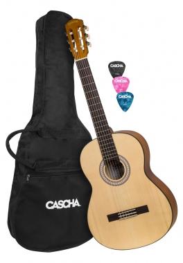 Cascha 2137 Student Series 4/4 Konzertgitarre Set