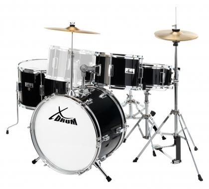 XDrum Junior Pro Kinder Schlagzeug Black inkl. Schule + DVD - unvollständig!