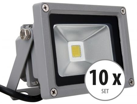 Showlite FL-2010 LED faretto IP65 10 Watt 1100 Lumen SET 10 pezzi