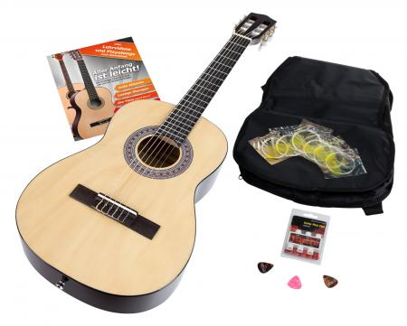 Calida Benita Concert Guitar Set 7/8 natural with accessories