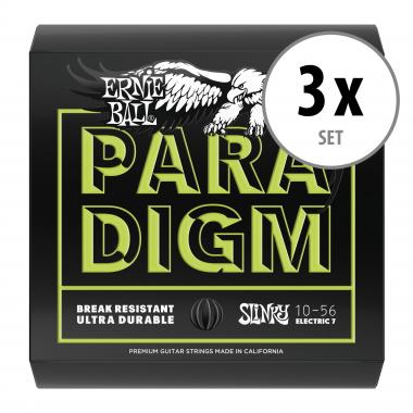 3er Set Ernie Ball 2028 Paradigm Regular Slinky 7-String